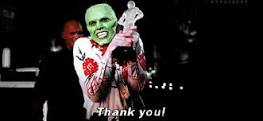 Jim Carrey in The Mask, sourced from http://giphy.com/search/thank-you/2